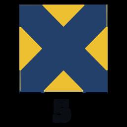 Bandeira de sinal marítima internacional nato 5 plana