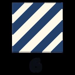 Bandera de señal marítima internacional otan 6 plana