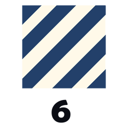 International maritime signal flag nato 6 flat