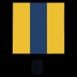 International maritime signal flag nato 8 flat