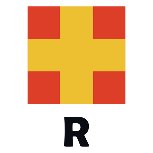 International maritime signal flag r flat