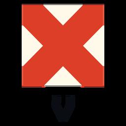 Bandera de señal marítima internacional v plana
