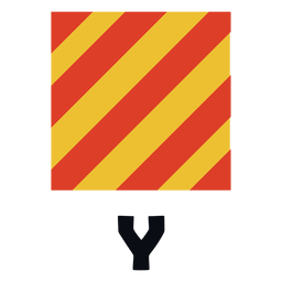 International maritime signal flag y flat