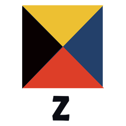 International maritime signal flag z flat