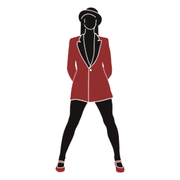 Jazz dancer female coat silhouette
