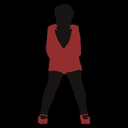 Weibliche Mantelsilhouette der Jazz-Tänzerin