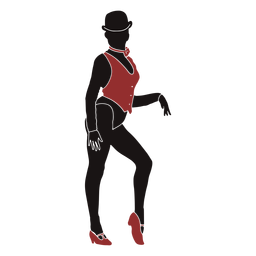 Jazz dancer female vest silhouette