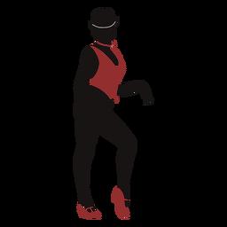 Silueta de chaleco femenino bailarina de jazz