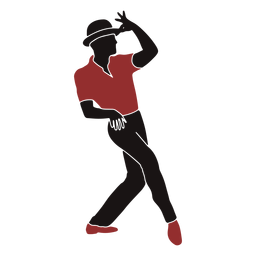 Jazz dancer male hat silhouette