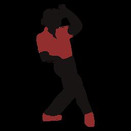 Silhueta de chapéu masculino de dançarina de jazz