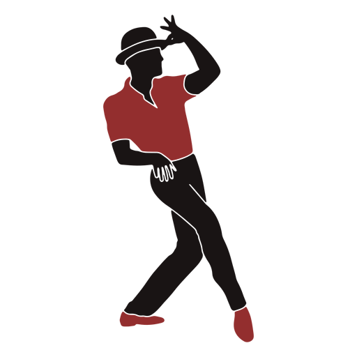 Jazz dancer male hat silhouette Transparent PNG