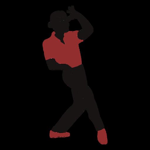 Männliche Hutschatten-Silhouette der Jazz-Tänzerin Transparent PNG
