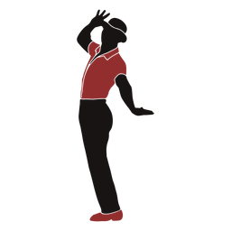 Jazz hat dancer male silhouette
