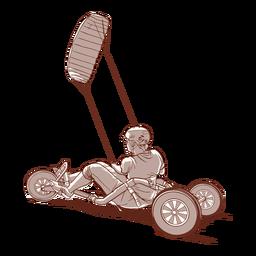 Ilustração de kite buggy