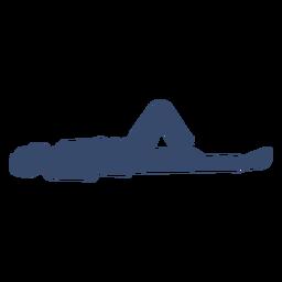 Acostado sobre silueta de hombre de espalda