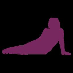 Acostado sobre silueta de mujer lateral