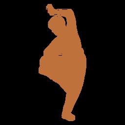 Silueta de bailarín indio masculino