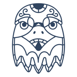 Mandala Adler Tier Schlaganfall