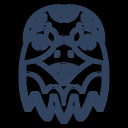 Traço de animal águia mandala