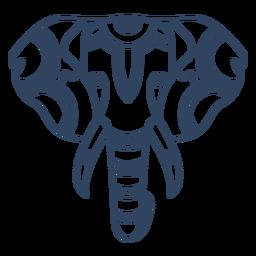 Mandala Elefant Tier Schlaganfall