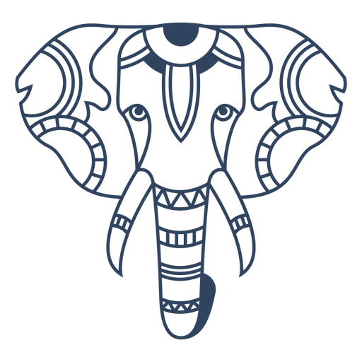 Mandala elefante trazo animal Transparent PNG