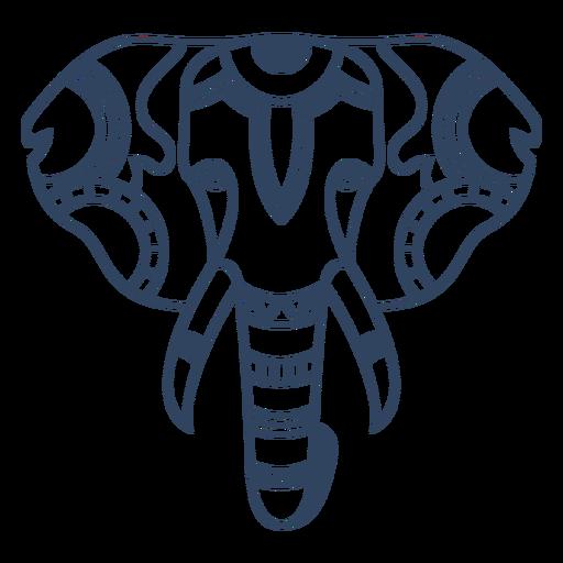 Mandala elephant animal stroke Transparent PNG