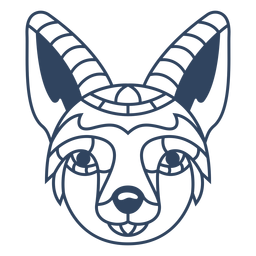 Mandala Fuchs Tier Schlaganfall