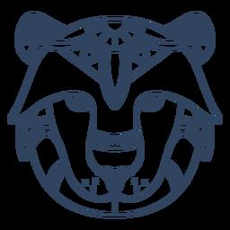 Mandala lion animal stroke