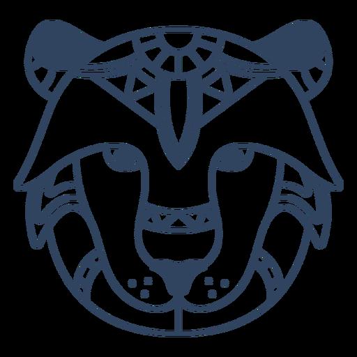 Mandala leão animal acidente vascular cerebral Transparent PNG