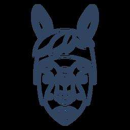 Curso de animal lhama mandala