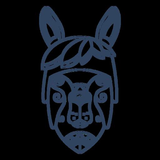 Mandala llama animal stroke