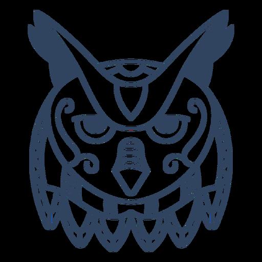 Mandala owl animal stroke Transparent PNG