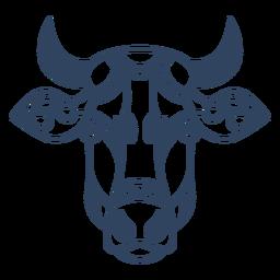 Mandala Ochsen Tier Schlaganfall