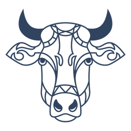 Mandala ox animal stroke