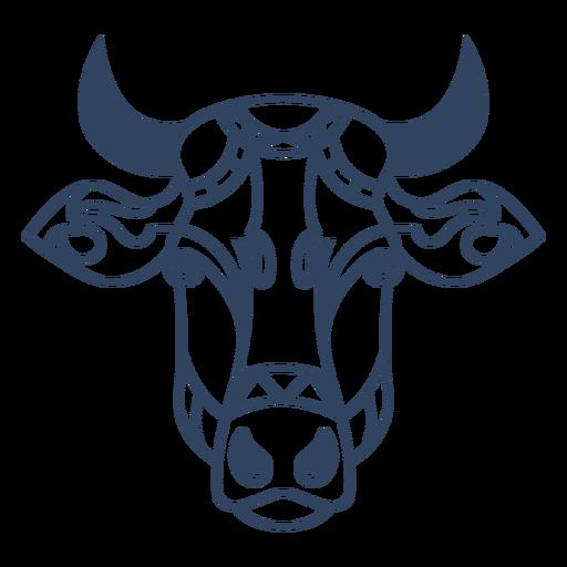 Mandala ox animal stroke Transparent PNG