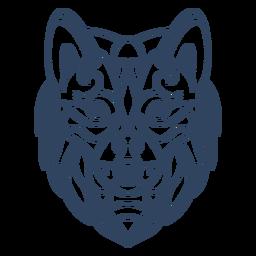 Mandala Wolf Tier Schlaganfall