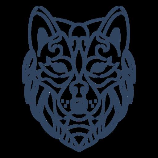 Mandala lobo animal stroke