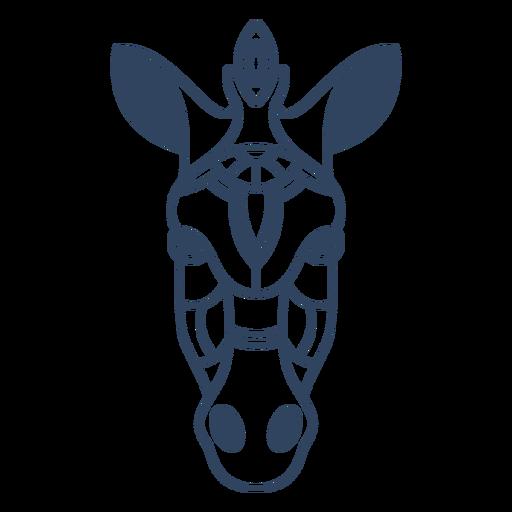Mandala cebra animal stroke Transparent PNG