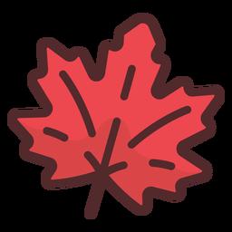 Icono de hoja de arce trazo