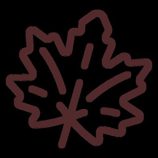 Maple leaf stroke maple leaf Transparent PNG
