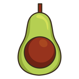 Mexican avocado colorful icon stroke