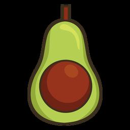 Traço colorido de abacate mexicano