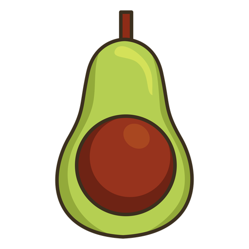 Mexican avocado colorful icon stroke Transparent PNG