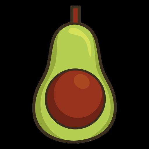 Mexican avocado colorful icon stroke
