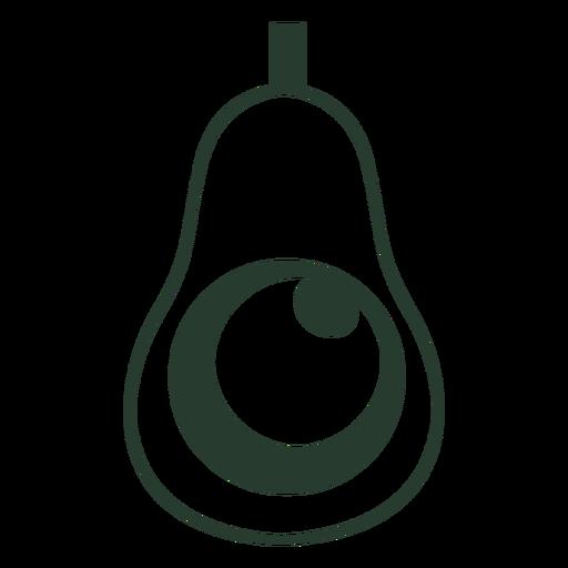 Trazo de icono de aguacate mexicano
