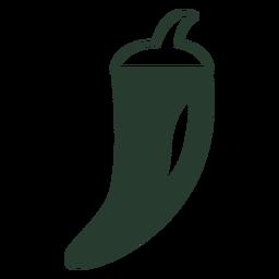 Mexican chili pepper silhouette icon