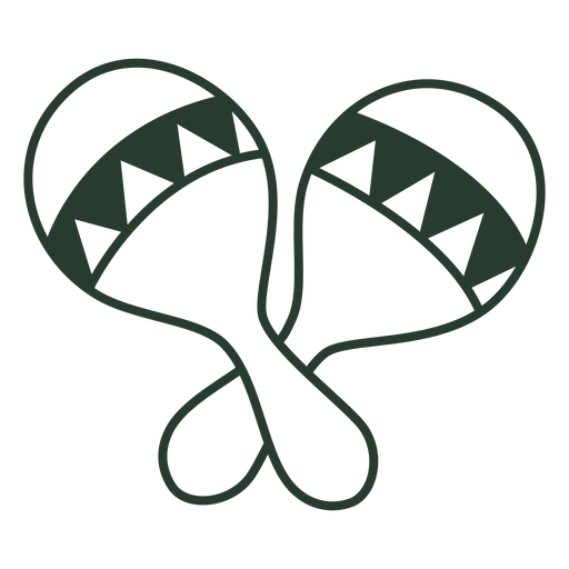 Mexican maracas icon stroke Transparent PNG