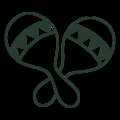 Mexican maracas icon stroke