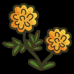 Trazo de colorido icono de caléndula mexicana