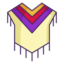 Mexican poncho colorful icon stroke